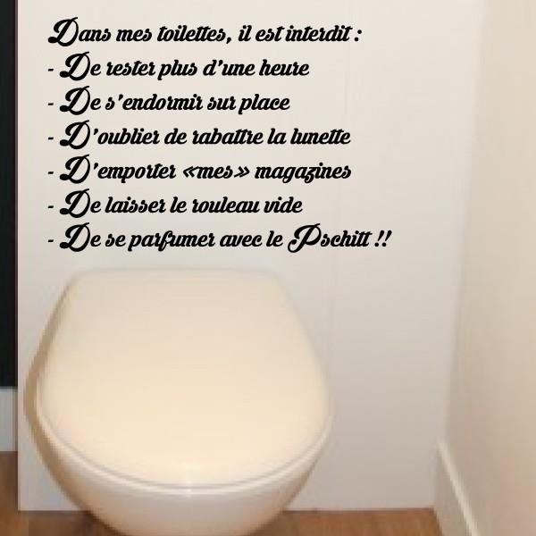 Texte Dans Mes Toilettes Il Est Interdit