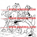 Sticker Winnie et ses amis