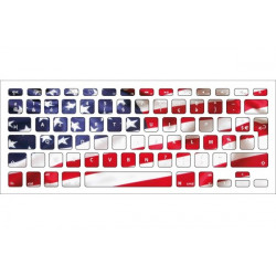 Sticker Drapeau USA pour Clavier Macbook