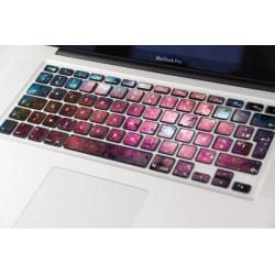 Sticker Galaxie pour Clavier Macbook