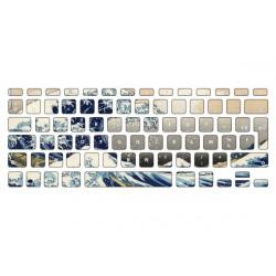 Sticker Vague Océan pour Clavier Macbook
