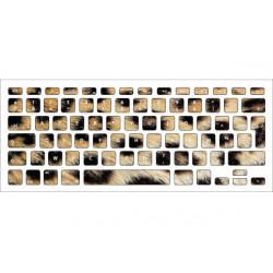 Sticker Léopard pour Clavier Macbook