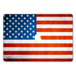 Sticker Skin Drapeau Usa pour MacBook