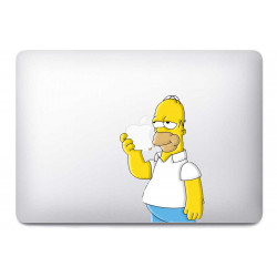 Sticker Homer Les Simpson pour MacBook