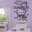 Sticker Hello Kitty Arc en Ciel