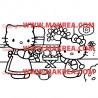 Sticker Hello Kitty au Jardin