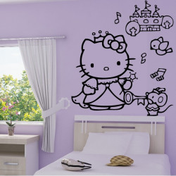 Sticker Hello Kitty Princesse