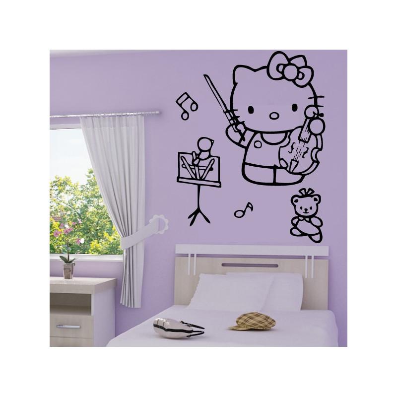 Sticker Hello Kitty Violon