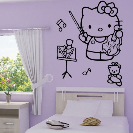 Sticker Hello Kitty Violon