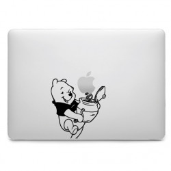 Sticker Winnie Boite Surprise pour MacBook