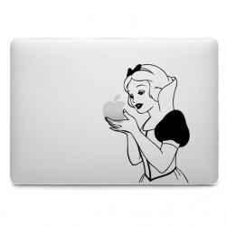Sticker Blanche Neige tient la pomme pour MacBook