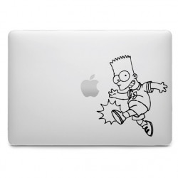 Sticker Les Simpson Bart pour MacBook