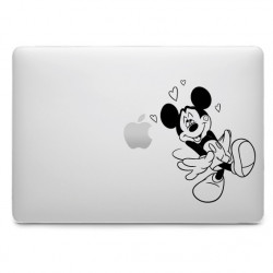 Sticker Mickey Amoureux pour MacBook