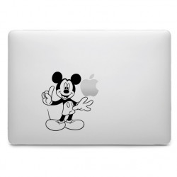 Sticker Mickey Lève le doigt pour MacBook