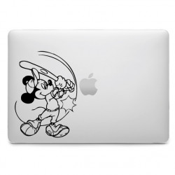 Sticker Mickey Baseball pour MacBook