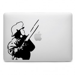Sticker Pompier lance à incendie pour MacBook