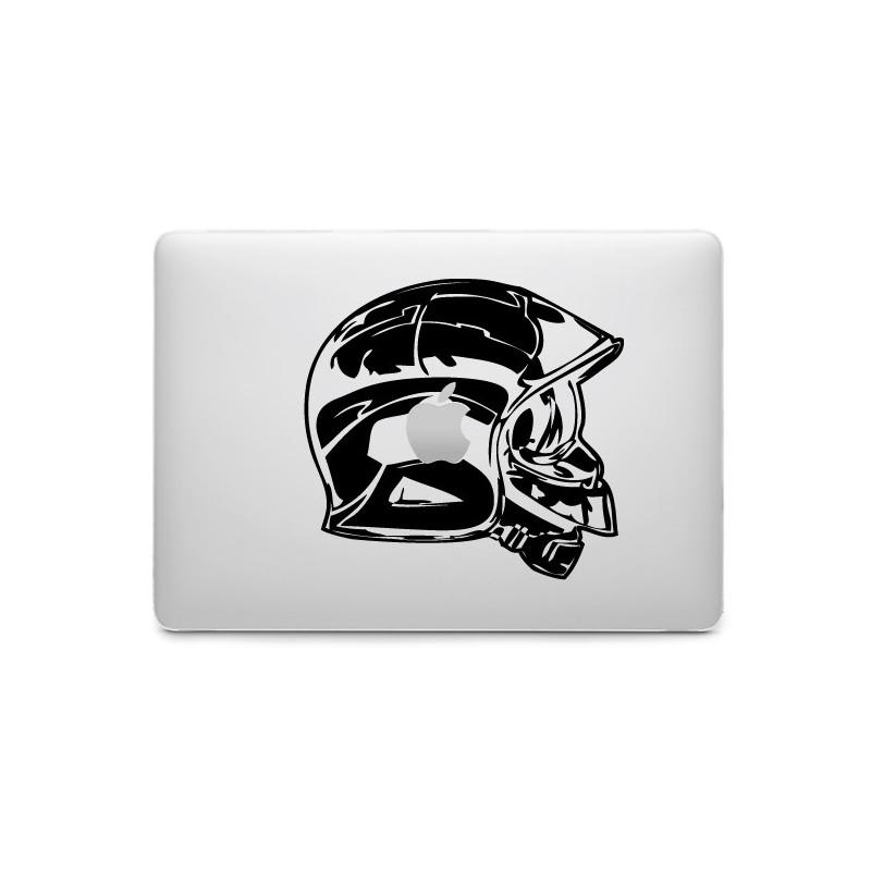 Sticker Pompier Casque pour MacBook