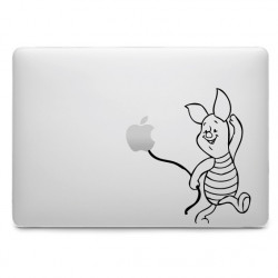 Sticker Porcinet Ballon pour MacBook