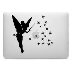 Sticker Fée Clochette étoiles pour MacBook