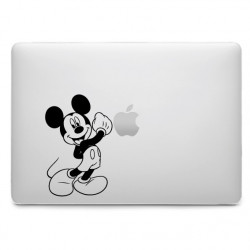 Sticker Mickey Coup de Poing pour MacBook