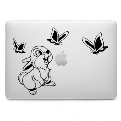 Sticker Panpan Papillons pour MacBook