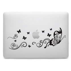 Sticker Ornement Papillons pour MacBook