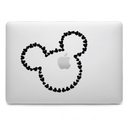 Sticker Mickey Tête pour MacBook