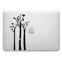 Sticker Arbres Bouleaux pour MacBook