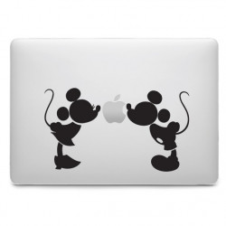 Sticker Minnie & Mickey Bisous pour MacBook