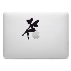 Sticker Fée Clochette Assise pour MacBook