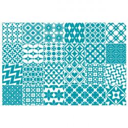 Stickers Crédence 24 Carreaux de Ciment