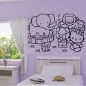 Sticker Hello Kitty au Zoo