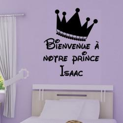 Couronne Bienvenue à notre prince + prénom personnalisable