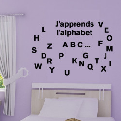 Sticker J'apprends l'alphabet - Lettres