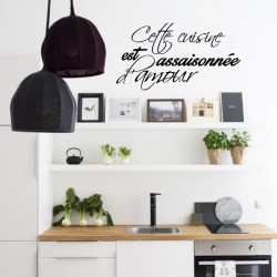 Sticker Cuisine - Cette cuisine est assaisonnée d'amour