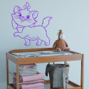 Sticker Marie la petite chatte de côté - Les Aristochats