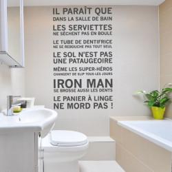 Les Règles de La Salle de Bain...Iron Man