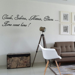 Sticker Texte - Prénoms + Home sweet Home !