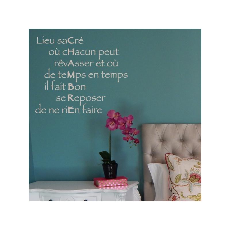 Citation CHAMBRE : Lieu sacré où chacun peut rêvasser...
