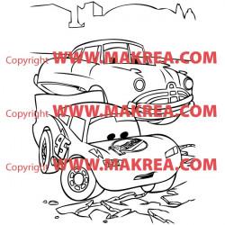 Sticker Cars sur la route