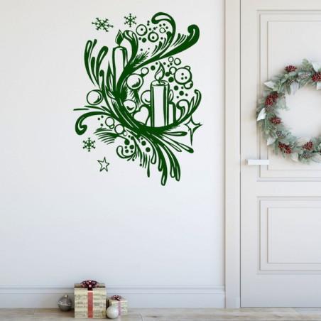 Noël Bougies, Neige et Boules