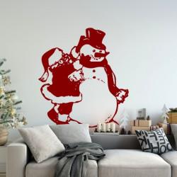 Noël - Père Noël et Bonhomme de Neige