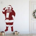 Sticker Noël - Père Noël et Cloche