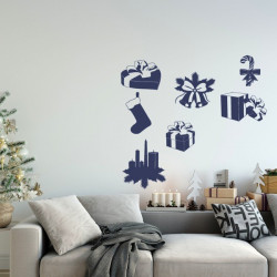 Sticker Pack/Kit Noël - Cadeaux, cloches, botte, bougies ...