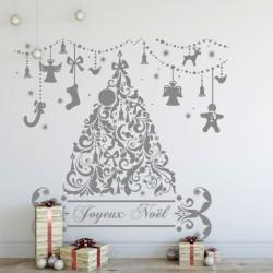 Sapin de Noël et décor guirlandes