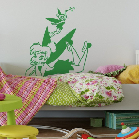 Peter Pan - Fée Clochette Allongée Ailes Colorées