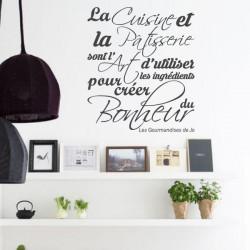 Cuisine - La Cuisine et la Pâtisserie sont l'Art d'utiliser les ingrédients pour créer du Bonheur.