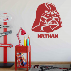 Sticker Star Wars - Masque Dark Vador