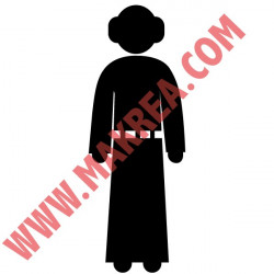 Star Wars - Princesse Leia silhouette