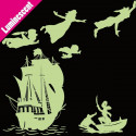 Sticker Luminescent PACK Silhouette Peter Pan s'envole, bateau pirate, Capitaine Crochet